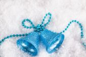 Christmas decorations on the snow  — Stock Photo