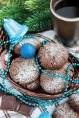 Chocolate crinkles cookies — Stock Photo