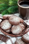 Chocolate crinkles cookies — Stock Photo