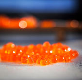 Red caviar close up — Stock Photo
