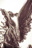 Vintage shoot of an bronze angel. Unknown artist of the 18th cen — Stock fotografie