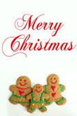 Christmas Gingerbread Cookie Family Isolated on White Background — Stock Photo