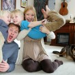 Funny Happy Family Portrait at Home — Stock Photo #68340919