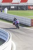 Jorge Lorenzo of Yamaha Factory team racing — Stok fotoğraf
