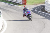 Jorge Lorenzo of Yamaha Factory team racing — Foto de Stock