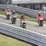 Pits exit Misano Adriatico MotoGP race — Stock Photo #54345437