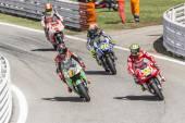 Doły zakończyć wyścig motogp misano adriatico — Zdjęcie stockowe