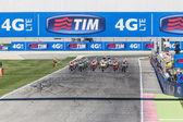 Starting grid of the MotoGP race in Misano — Stock Photo