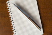 Ordinateur portable avec un stylo — Photo