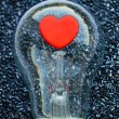 Red heart of an electric bulb — Stock Photo #62922877
