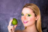 Model meets Lime — Stock Photo