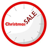 Watch red christmas sale — Stock Vector