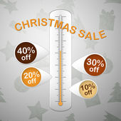 Xmas sale thermometer — Stock Vector