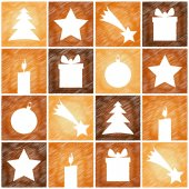 Christmas 4sq background pattern — Stock Vector
