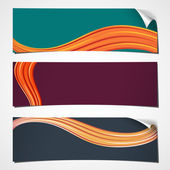 Banners curled wave — Stock Vector