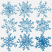 Snowflake brush — Stock Vector
