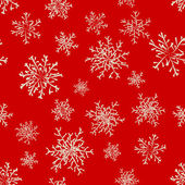 Winter background snowflakes red — Stock Vector
