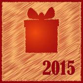 Merry christmas happy gift 2015 — Stock Vector