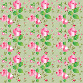 Vintage seamless pattern with beautiful roses. Vector illustration.  — Stock Vector
