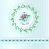 Beautiful roses post card for holiday — ストックベクタ