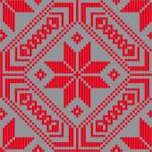 Belorussian ethnic ornament, seamless pattern. Vector illustration — Stock vektor