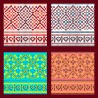 Set of Ethnic ornament pattern in different colors. Vector illustration — Stock Vector #65224189