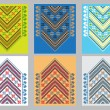 Set of Ethnic ornament pattern in different colors. Vector illustration — Stock Vector #65224197