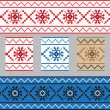 Set of Ethnic ornament pattern in different colors. Vector illustration — Stock Vector #67341917
