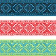 Set of Ethnic ornament pattern in different colors. Vector illustration — Stock Vector #70792879
