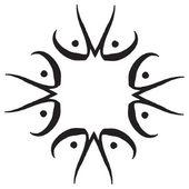 Modello con mano disegno cornice decorativa zentangle nello stile etnico del grunge. Vector — Vettoriale Stock