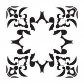 Hand drawing decorative tile frame. Italian majolica style — Stock Vector