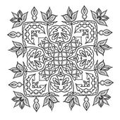 Hand tekenen zentangle mandala element. Italiaanse majolica stijl — Stockvector