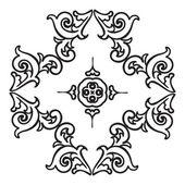 Hand drawing zentangle mandala element. Italian majolica style — Stock Vector