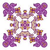 Hand drawing zentangle mandala color element. Italian majolica style — Stock Vector