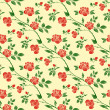 Decorative seamless patterns with red roses, leaves and branches. — Stock Vector #76814175