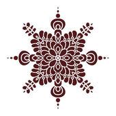 Hand drawing mandala element, silhouette in marsala color. Italian majolica style — Vetor de Stock