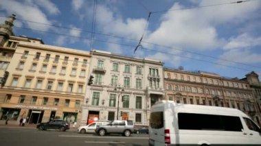 View of the Nevsky Prospect — Stock Video