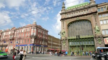 View of the Nevsky Prospect — Wideo stockowe