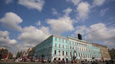 Pan view of Nevsky Prospect — Video Stock