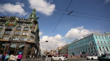 Pan view of Nevsky Prospect — Stock video