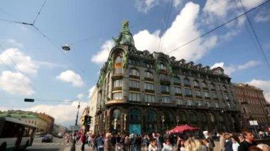 Pan view of Nevsky Prospect — Stock Video