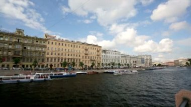 Moyka river from Nevsky prospekt — Vídeo de stock