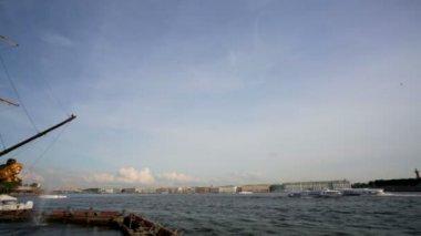 Saint Petersburg and Neva river — Stock Video