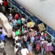 People at thei rail station. — Stock Video #62674687