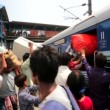 People at thei rail station. — Stock Video #62675483