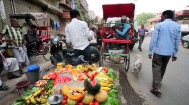 Fruits de vente ambulant. — Vidéo