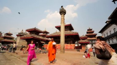 Durbar square of Kathmandu — Stock Video