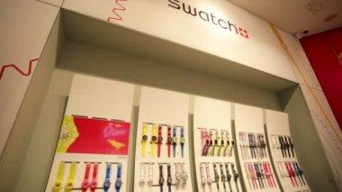 Swatch store in Macau — Stock Video