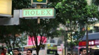 Rolex shop sign — Stock Video