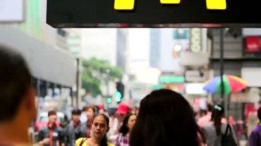 McCafe signboard in Hong Kong — Stock Video